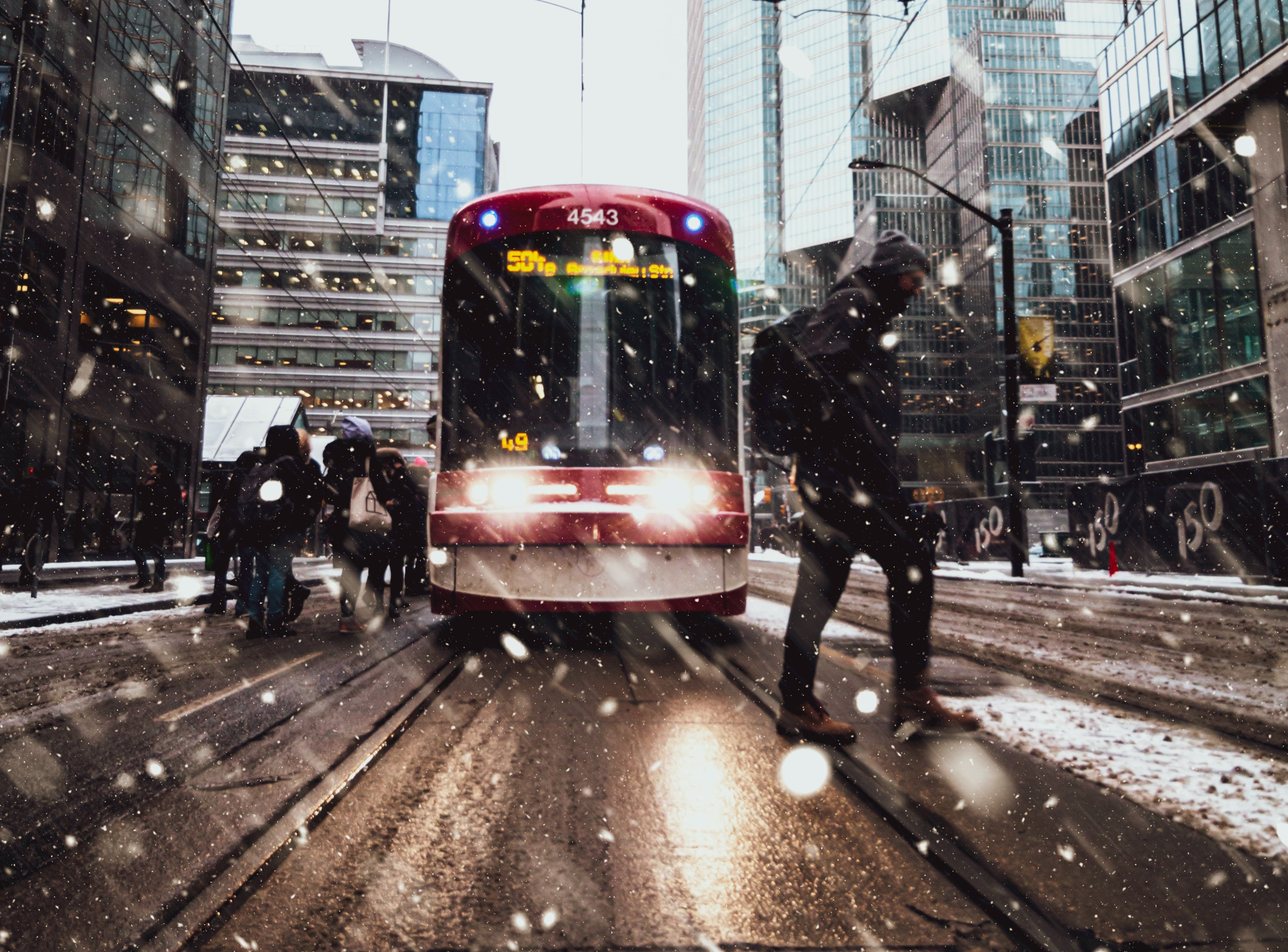 Traffic in the snow 2025AD