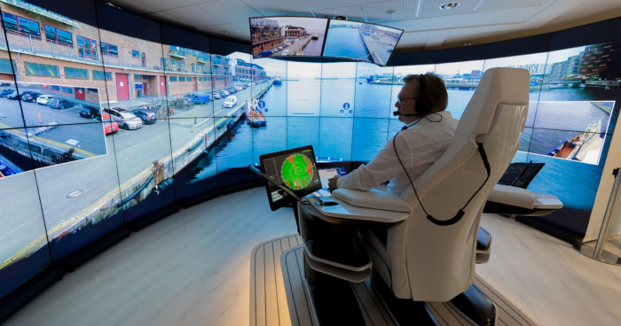 intelligence camera operated control centre for ships